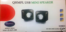 100% Original Quantum USB Powered Mini Portable Speakers for Laptop, Desktop, PC