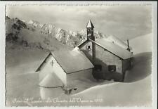 passo del tonale la chiesetta dell' ospizio sotto la neve