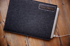 "Apple MacBook Air 11""  Felt Sleeve Case Cover Bag - with your LEATHER NAME"