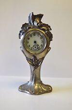 Antique Silver-Plated Art Nouveau Clock