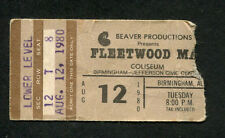 Original Fleetwood Mac Concert Ticket Stub Birmingham AL Tusk Tour