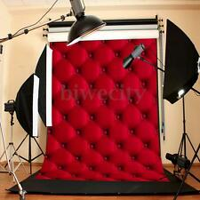 Vinyl 3D Red Wall Photography Background 5x7FT Backdrop For Studio Photo Prop US