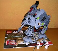 Lego 7671 star wars at-ap walker con Clone shocktrooper completamente