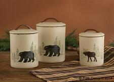 """Counrty Rustic """" RUSTIC RETREAT """" Canister Set From Park Designs"""