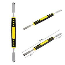 Hot Double Ended Metal Pry Tool Open Plastic Handle Crowbar Dual Head For Iphone