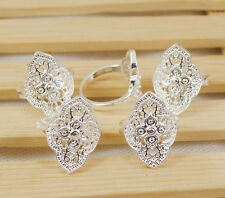 Nice wholesale lots flower hollow   5PCS 925sterling silver  ring size 7-10 S024
