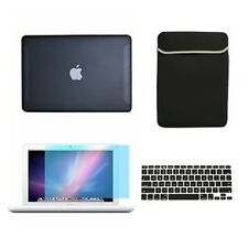 "4in1 Rubberized BLACK Case for Macbook White 13"" + Keyboard Cover+LCD Screen+Bag"