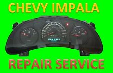 Repair Service for 2000-2005 00-05 Chevrolet IMPALA Instrument Panel Cluster