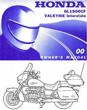 2000 HONDA GL1500CF VALKYRIE INTERSTATE MOTORCYCLE OWNERS MANUAL -NEW SEALED-F6C