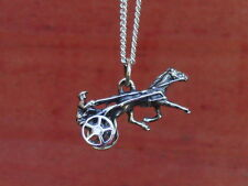 Harness Racing Moving Sulky Wheel Trotter Pendant Equestrian With Chain