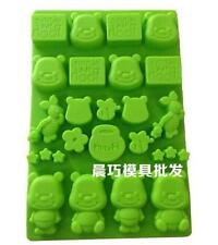Winnie the Pooh Cake Soap Mold Silicone Mould For Candy Chocolate Cookie Craft