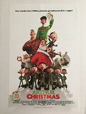 "ARTHUR CHRISTMAS ""B"" 11x17 ORIGINAL D/S PROMO MOVIE POSTER"