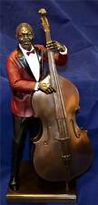 LARGE 33cm TALL JAZZ BAND DOUBLE BASS PLAYER SCULPTURE Music Figure