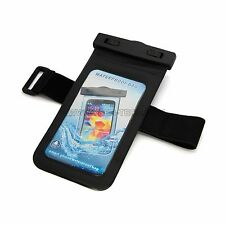 Waterproof Pouch Case with Armband and Headphone Jack for Galaxy Note 4 /3 /2