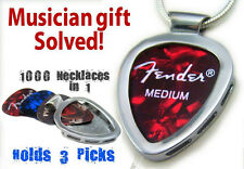 Guitar pick Necklace holder Pendant 1,000 Necklaces in 1 PICKBAY Musician Gift
