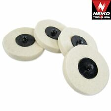 "20 Neiko 3"" Polishing Discs Wool Buffing Wheel Automotive Detailing Tools"