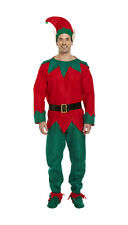 Christmas Elf Fancy Dress Party Costume Mens Male Adult Size Medium