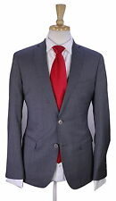 * ETRO * Very Recent Solid Gray Slim Fit Wool 2-Btn Luxury Suit 36S
