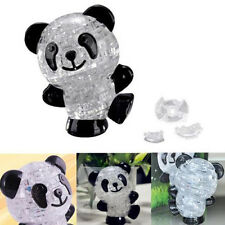 New  2015 3D Panda Crystal Puzzle Jigsaw DIY IQ Toy Kid Gift Game HU