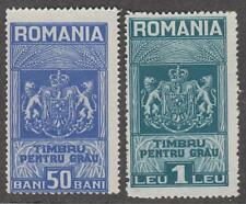 Romania Wheat Bread Revenues Barefoot #1-2 unused 1931 cv $7