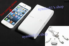 12000mAh External Portable Power Bank 2 USB Battery Charger for iPhone 5 Samsung