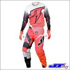 JT RACING USA COMPLETO 15 HYPERLITE RED WHITE BLACK,  PANT. 34  JERSEY L