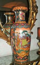 Stunning Large Chinese Famille Rose*6 Lady*Porcelain Palace Floor Vase~24 Inches