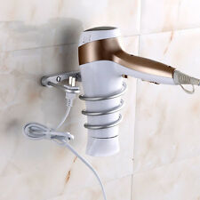 Hot Bathroom Aluminum Spiral Blow Stand Hair Dryer Holder Rack
