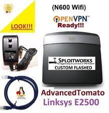 Linksys E2500 v1 300 Mbps N600 4-Port 10/100 Wireless N Router VPN Tomato Router