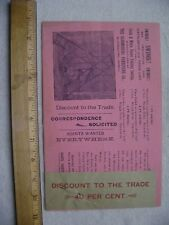 1896 One Page Ad for Bloomsburg Furniture Co. Outdoor Swings-Bloomsburg, PA