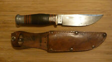 Vintage Wade and Butcher Boone Knife with Original Sheath Sheffield England