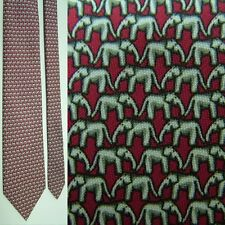 NEW TAGS JIM THOMPSON RED GREY MARCHING REPUBLICAN ELEPHANT ALL SILK NECKTIE TIE