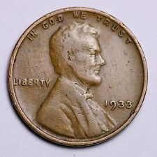 1933 Lincoln Wheat Cent Penny LOWEST PRICES ON THE BAY!  FREE SHIPPING!