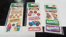 3 Sets of Vintage 80's 1983 Lifesavers Gum Candy Scratch n Sniff Sticker Lot