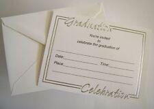 25 Silver & White Graduation Invitations Announcements