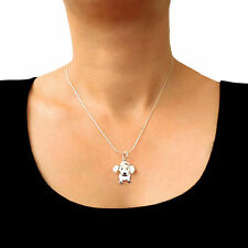 925 Sterling Silver Dachshund Sausage Dog Chain Necklace