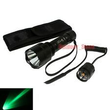 Ultrafire C8 Tactical CREE Q5 LED 1Mode Green light Flashlight + Remote Switch