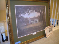 Antebellum Memories Nelson Rhodes Signed Certificate Big Beautiful Frame Matted