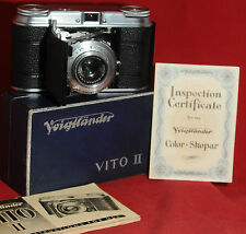 VOIGHTLANDER VITO II. CAMERA/BOX/PAPERS