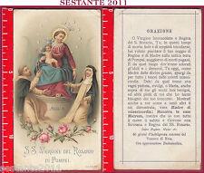 1680 SANTINO HOLY CARD MADONNA SS. VERGINE DEL ROSARIO DI POMPEI A. & M. B. 1895