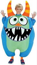 CHILD INFLATABLE BLUE MONSTER SCAREBLOWN ILLUSION FUNNY COSTUME SS55177G