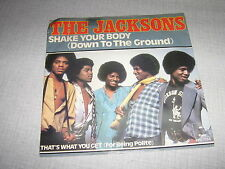THE JACKSONS 45 TOURS HOLLANDE SHAKE YOUR BODY