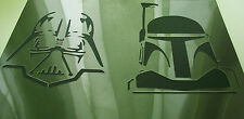 SW2 Nuovo 2in1 Aerografo Stencil Star Wars Boba Fett Darth Vader VERNICE MOVIE