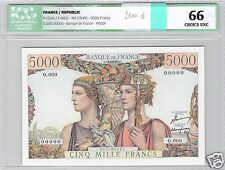 FRANCE EPREUVE / PROOF 5000 FRANCS TERRE ET MER ND (1949) PICK 131as RARE