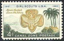 Canal Zone 1962 Girl Scouts USA/50th/Guides/Guiding/Palm Trees/Tents 1v (n23987)