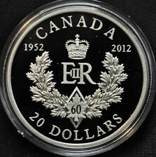 2012 Queen's Royal Cypher $20 Fine Silver Coin - No Tax
