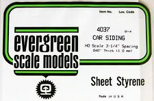 "N Scale: EVERGREEN ""CAR"" SIDING"" SHEETS - #4037"