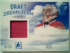 CAREY PRICE   AUTHENTIC MEMORABILIA PIECE OF GAME-USED JERSEY 31/55  SP