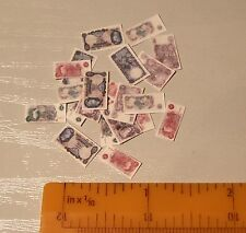 PAPER MONEY FOR THE DOLLS HOUSE IN TWELFTH SCALE - POSTAGE FREE