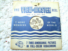 VINTAGE VIEW MASTER REEL -  Grand Canyon national park from late 1940's